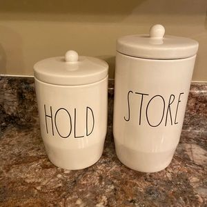 Rae Dunn Hold and Store canisters